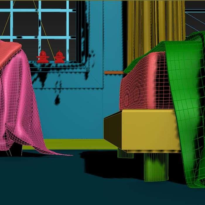 Rzutnia z programy 3ds Max w trakcie modelowania